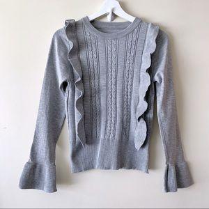 Ruffle Knit Sweater